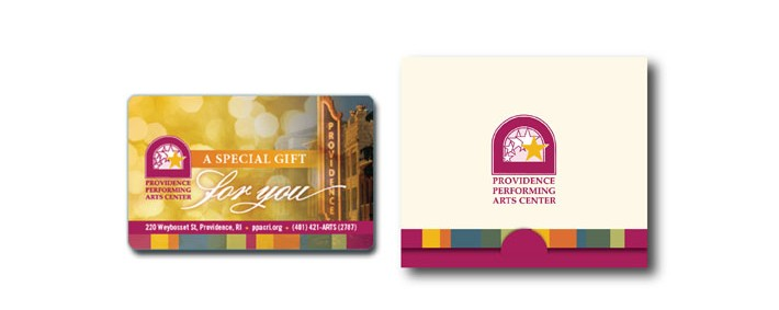 PPAC gift card and gift card envelope.